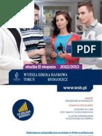 Informator 2012 - studia II stopnia - Wyższa Szkoła Bankowa w Toruniu
