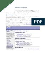 Configuración e Instalación de servidor PHP