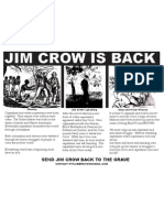 Jim Crow is Back Flyer