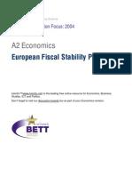 A2 European Fiscal Stability Pact