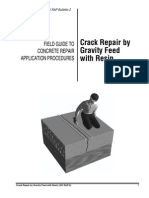 Crack Repair by Gravity Feed With Resin