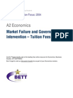 A2 Market Failure Tuition Fees Case Study