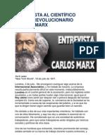 Entrevista a Carlos Marx