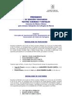 Listado Premiados Entre Cuerdas y Metales 2012