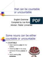 Nouns That Can Be Countable or Uncountable