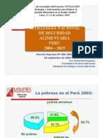 Estrategia Nacional de Seguridad Aliment Aria 2004 - 2015