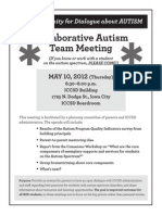 Collaborative Autism Team Meeting