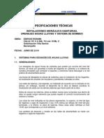 ESPECIFICACIONES TÉCNICAS EDIFICIO ROSSINI