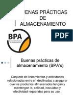 BUENAS PRÁCTICAS DE ALMACENAMIENTO
