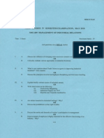 Management of Industrial Relations May 2010