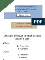 PPt Week 9 Power War Peace 21 Feb