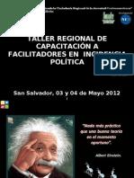 Capacitación a Facilitadores en Incidencia Política