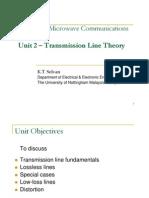Unit 2 - Transmission Line Theory