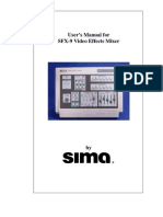 User Manual for SFX-9A Video Mixer