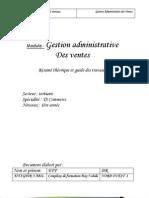 M12 - Gestion Administrative Des VentesTER-TSC