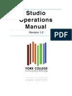 Ct Department Studio Operations Manual