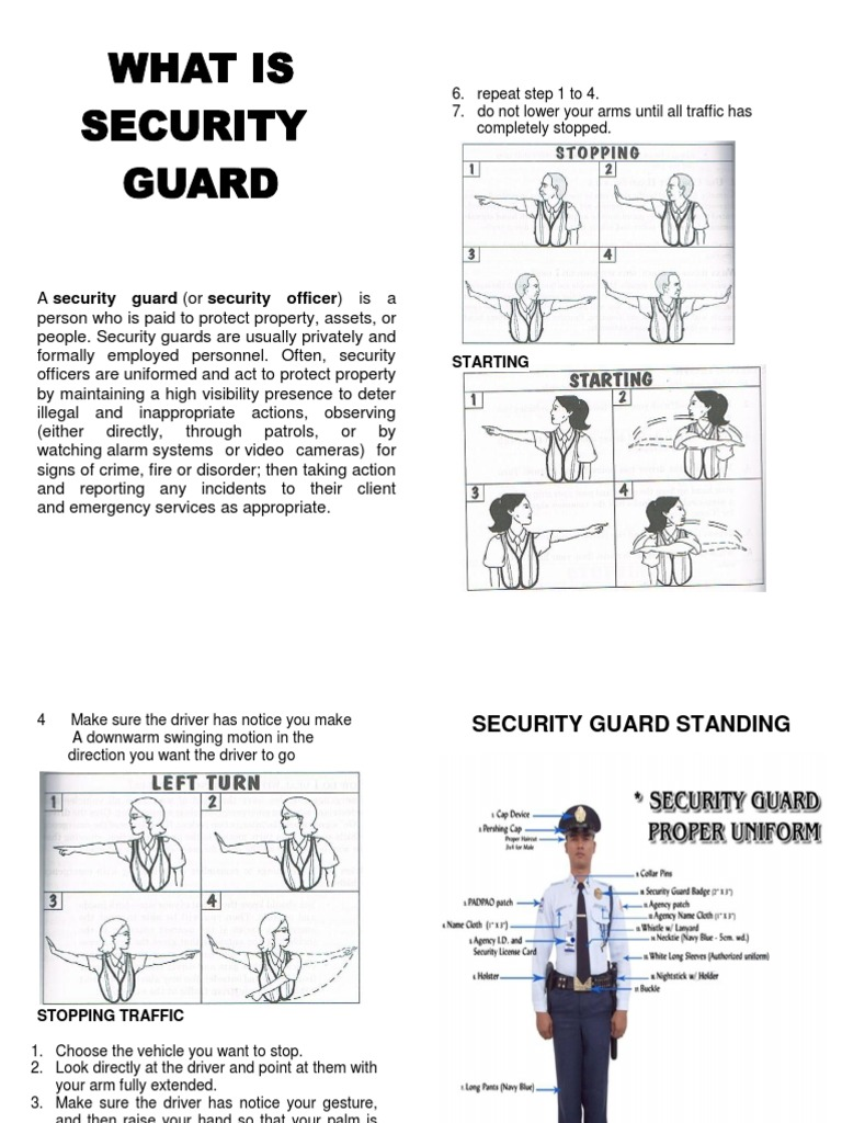 Security Officer Duties And Responsibilities Security Officers