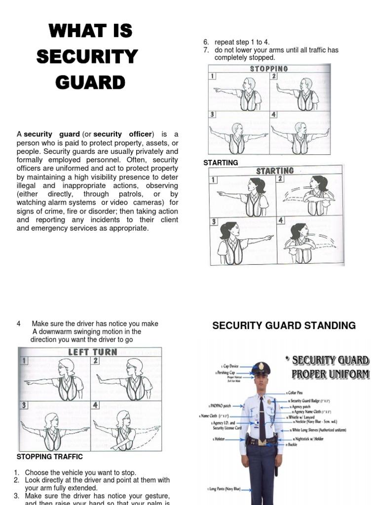 Security Guard HANDBOOK | Security Guard | Hand