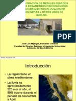 Contaminantes en Escurrimientos Pluviales-Jose Luis Mijangos