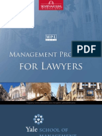 Management Program for Lawyers - Yale School of Management