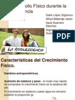 Desarrollo Fisico en La Adolescencia1