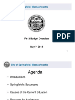 Springfield's FY13 Budget Overview for State Officials