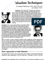 Hotel Valuation Techniques