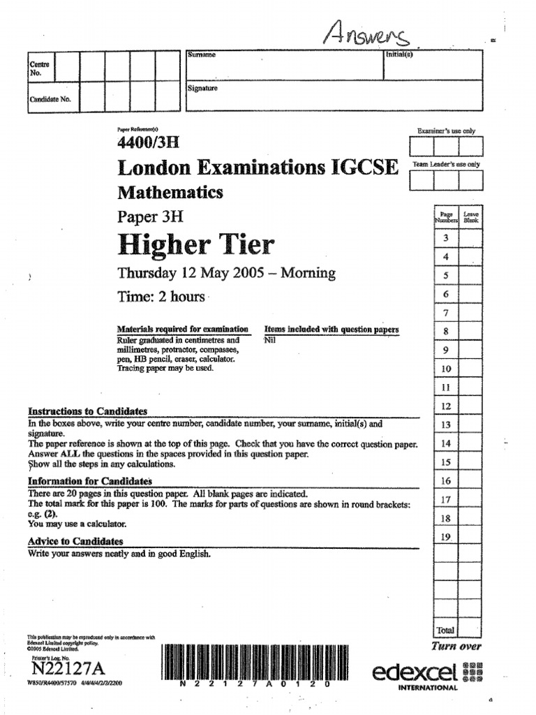 Maths Edexcel Linear Paper 2009 or any other year grade boundaries?