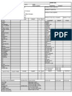 Commercial Call Sheet