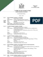 Public Hearing Calendar -May 4, 2012 Time Change