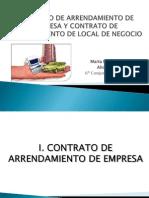 Contrato de Arrendamiento de Empresa y Contrato De