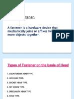 Presentation Fasteners