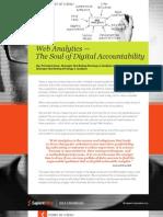Web Analytics — The Soul of Digital Accountability
