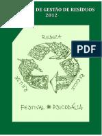 Relatório de Resíduos Psicodália 2012
