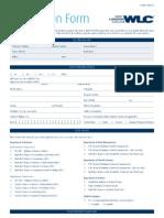 WLC App Form 2012 Intl