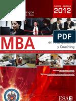 MBA en Alta Gerencia y Coaching 2011