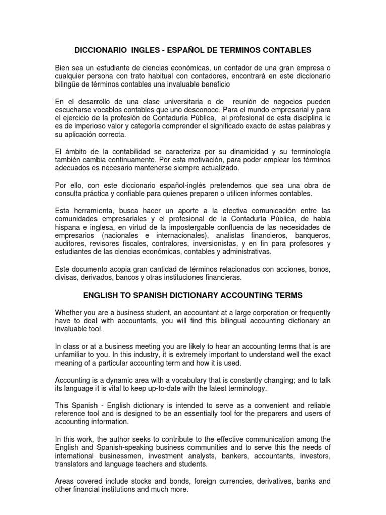 Diccionario de Terminos Contables a-c
