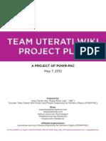 Team Uterati Wiki Project Plan