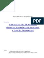Administração Pública De Pessoal Gerência De Recursos Humanos E Gestão Estratégica