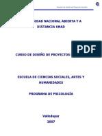 Modulo de Diseno de Proyectos Sociales 301501