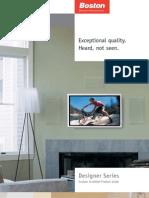 Boston Acoustics DSi465 Custom Install Brochure