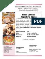 Curso Corto de Reposteria Educación Continua UPR - Aguadilla