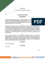 Ley No. 779 Ley Integral Contra La Violencia