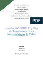 Informe Practica 2. Diseño de un controlador PI y PID de temperatura en un intercambiador de calor