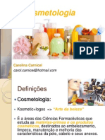 AULA 1 - Introdução á Cosmetologia