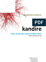 KANDIRE, Plan Acción Cultural 2012-2017