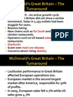 McDonald's Great Britain – The Turnaround