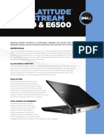Dell Latitude E6400 E6500 Spec Sheet