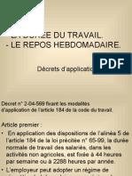 LA DURÉE DU TRAVAIL