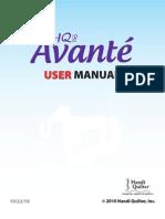 54714610 HQ18 Avante User Manual